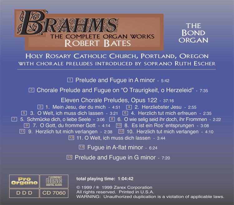 Prelude and Fugue in A minor (MP3) Robert Bates - Pro Organo