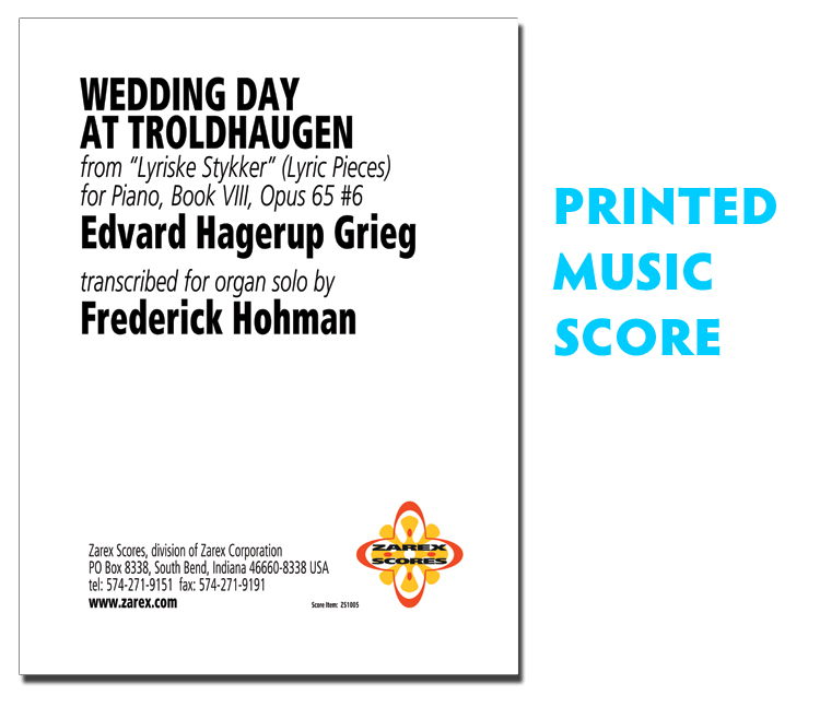 All Music Chords grieg wedding day at troldhaugen sheet music : Wedding Day at Troldhaugen - Grieg - organ transcription, music ...